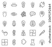 thin line icon set   idea... | Shutterstock .eps vector #1069192664