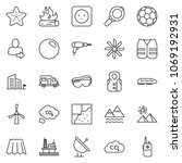 thin line icon set   drill... | Shutterstock .eps vector #1069192931
