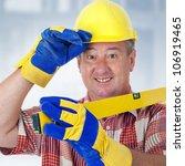 friendly construction worker... | Shutterstock . vector #106919465