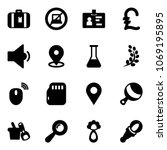 solid vector icon set  ... | Shutterstock .eps vector #1069195895