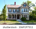 old fashioned victorian house... | Shutterstock . vector #1069197311