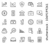 thin line icon set  ... | Shutterstock .eps vector #1069199261