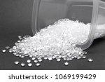 hdpe. transparent polyethylene...   Shutterstock . vector #1069199429