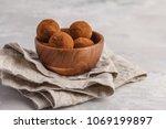 homemade healthy vegan raw... | Shutterstock . vector #1069199897