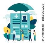 vector illustration. human life ...   Shutterstock .eps vector #1069201229