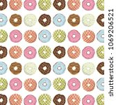 set of delicious donuts of... | Shutterstock .eps vector #1069206521