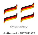 set of four modern colored... | Shutterstock .eps vector #1069208519