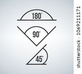 angle icon set  180  90  45.... | Shutterstock .eps vector #1069211171