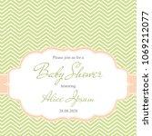 elegant baby shower invitation... | Shutterstock .eps vector #1069212077