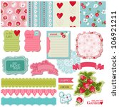 scrapbook design elements  ... | Shutterstock .eps vector #106921211