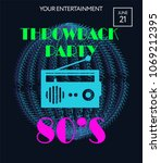 night party banner template for ... | Shutterstock .eps vector #1069212395