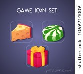 set of game icon in cartoon...