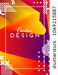 modern abstract cover....   Shutterstock .eps vector #1069215887