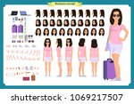 tourist female  vacation... | Shutterstock .eps vector #1069217507