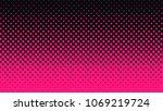 halftone gradient pattern... | Shutterstock .eps vector #1069219724