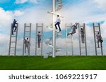 competition concept with... | Shutterstock . vector #1069221917