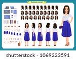 pretty female office employee...   Shutterstock .eps vector #1069223591