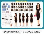 girl in evening dress character ... | Shutterstock .eps vector #1069224287