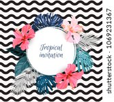 summer tropical background... | Shutterstock .eps vector #1069231367