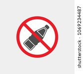 drinks are prohibited flat... | Shutterstock .eps vector #1069234487