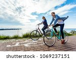 healthy lifestyle   people... | Shutterstock . vector #1069237151