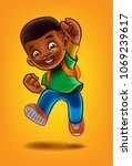 kid black illustration | Shutterstock .eps vector #1069239617