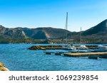 Yacht Pier In Norway Between...