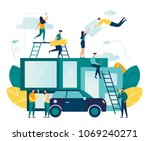 vector illustration of people... | Shutterstock .eps vector #1069240271