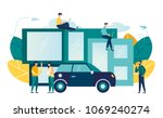 vector illustration of people... | Shutterstock .eps vector #1069240274