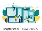 vector illustration of people... | Shutterstock .eps vector #1069240277