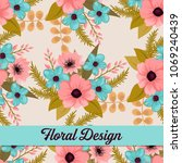 beautiful floral design. vector ... | Shutterstock .eps vector #1069240439