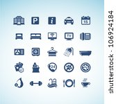set of hotel icons   Shutterstock .eps vector #106924184