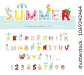 summer font. creative cartoon... | Shutterstock .eps vector #1069242464