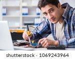 computer hardware repair and... | Shutterstock . vector #1069243964