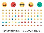 face emojis  emoticons ... | Shutterstock .eps vector #1069245071