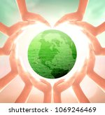 world environment day concept ... | Shutterstock . vector #1069246469