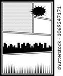 vector illustration halftone... | Shutterstock .eps vector #1069247171