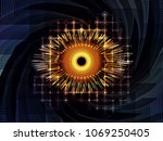eye of knowledge series.... | Shutterstock . vector #1069250405