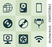 hardware icons set with wifi ... | Shutterstock .eps vector #1069253861