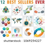 infographic elements   bar and... | Shutterstock .eps vector #1069254227