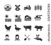 vector image set of agriculture ...   Shutterstock .eps vector #1069254284