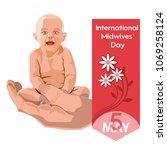 international midwives day  ... | Shutterstock .eps vector #1069258124