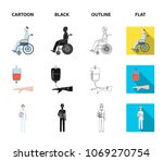 invalid with trauma  blood...   Shutterstock .eps vector #1069270754