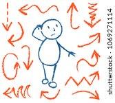 emotion of bewildered comic man ... | Shutterstock .eps vector #1069271114