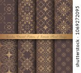 vector arabesque patterns.... | Shutterstock .eps vector #1069272095