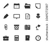 office accessories and tools ... | Shutterstock .eps vector #1069272587