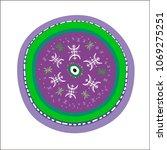 bright stylized decorative... | Shutterstock .eps vector #1069275251