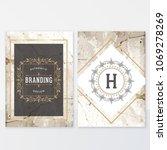 elegant marble design template... | Shutterstock .eps vector #1069278269