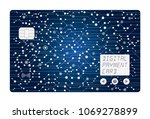 digital credit card  all in one ... | Shutterstock .eps vector #1069278899