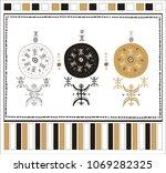 decorative composition... | Shutterstock .eps vector #1069282325